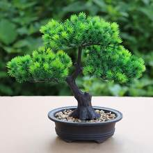Gran oferta! Nueva llegada 1Pc Planta Artificial árbol de pino Zen espíritu Fiesta Hotel escritorio Bonsai decoración venta al por mayor Dropshipping. Exclusivo.