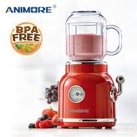 ANIMORE Portable Electric Blender Fruit Baby Food Juicer Milkshake Mixer Meat Grinder Multifunction Retro Juice Maker Machine|Blenders| |  -