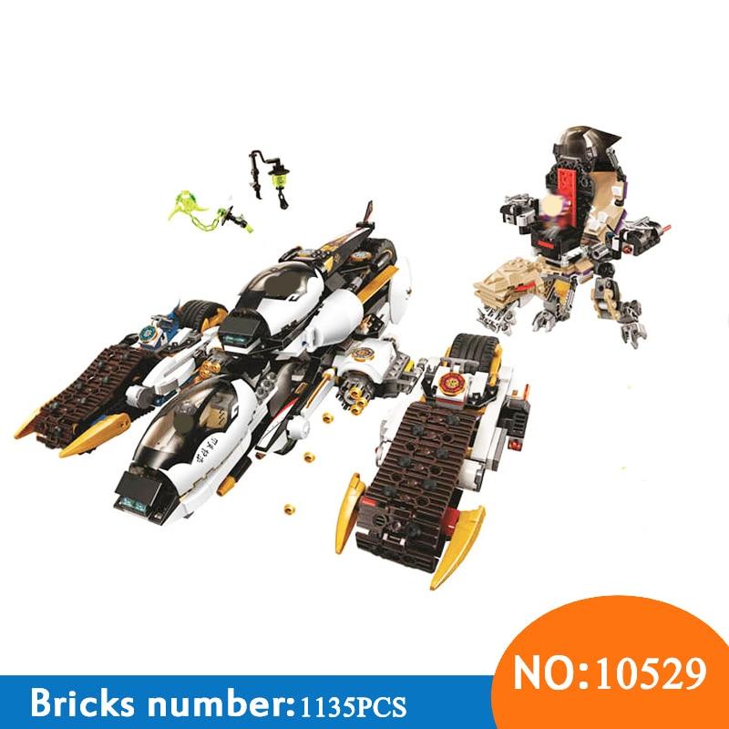 bela10529 compativel com lepining 70595 serie ninja fantasma quatro em uma deformacao chariot criancas brinquedo bloco