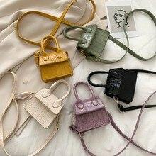 Mini saco quadrado pequeno 2021 de alta qualidade couro do plutônio bolsa feminina crocodilo padrão corrente ombro mensageiro sacos bolsa