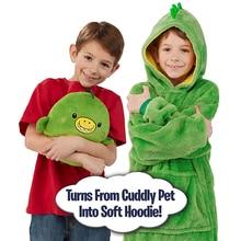Huggle lovable Pets/толстовка с капюшоном в виде динозавра; теплая зимняя толстовка с капюшоном; пальто; банный халат; флисовый пуловер; Детский Рождественский подарок