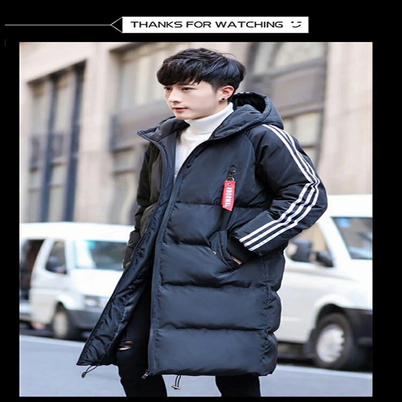 Fashion Plus Size Long Parka Hombre Winter Jacket Men Clothes 2020 Thick Warm Coat Hooded Casual Slim Overcoat Hiver D330