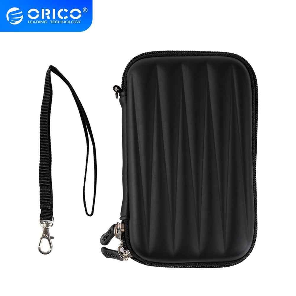 Orico 2.5 Inch HDD Casing Hard Disk Case Zipper Pouch Mini Powerbank EVA Kotak Membawa Kasus Electronic Organizer untuk Samsung