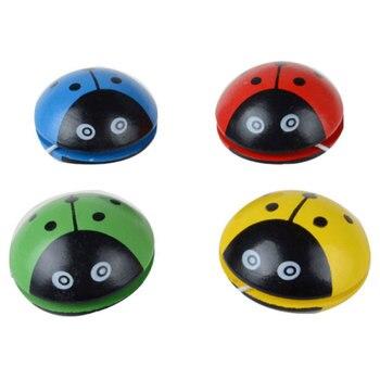 Śliczne zwierząt drukuje drewniane zabawki Yoyo biedronka zabawki dzieci yo-yo kreatywne Yo Yo zabawki dla dzieci dzieci Yoyo Ball