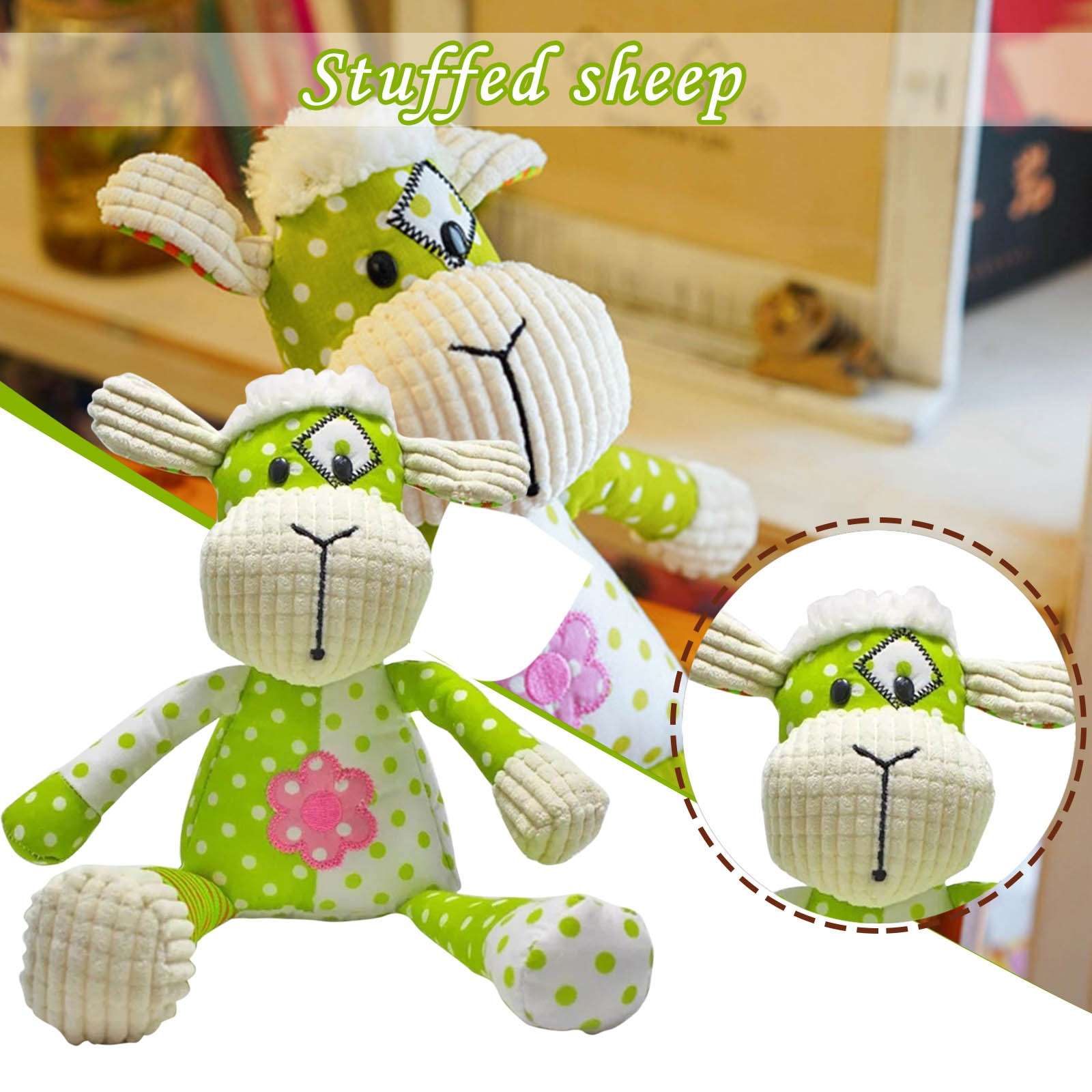 Puzzle Cloth Art Plush Toys To Help Babies Comfort Sleeping Baby Plush Dolls Cartoon Animal Stuffed Plush Toys For Child