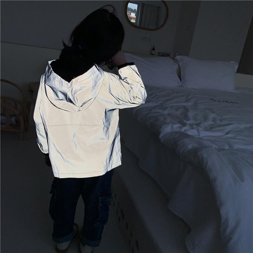 Светоотражающая куртка для девочек и мальчиков, ветрозащитная ветровка с капюшоном, YJ173, 2020 Куртки и пальто    АлиЭкспресс