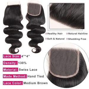 Image 5 - Body Wave Bundles With Closure Brazilian Hair Weave 3 Bundles With Closure Human Hair Bundles With Closure 30 Inch Bundles