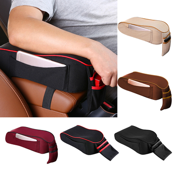 Soft Car Armrest Mat Cushion Central Arm Pads Armrest Covers Storage Pocket Arm Rest Box Seat Pad Auto Accessories Decoration upgraded car styling car arm rest accessories accessory mouldings protector automobiles armrest box 02 03 04 for chevrolet sail