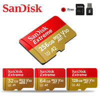SanDisk Micro SD 128GB 64GB 32GB Memory card Extreme Ultra 256GB microsd TF card 100MB/s Class10 U1/U3 4K With Adapter for Phone