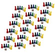 96 шт. 25 мм винтажные Сменные игровые детали шахматный и 16 шт. игральные кости детские игрушки