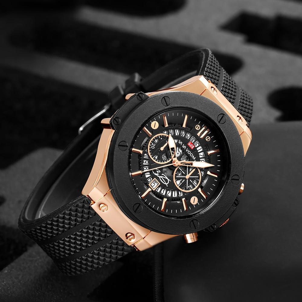 Fashion Sports Quartz Watch Men Unique Date Waterproof Wristwatches For Man Silicone Strap Big Clock Top Brand Relogio Masculino