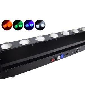 Image 3 - Led単一の制御移動ヘッドスキャンライト 10 × 40 ワットrgbw 4in1DMX512 djプロジェクターライトバーパーティーktvホーム結婚式効果ランプ