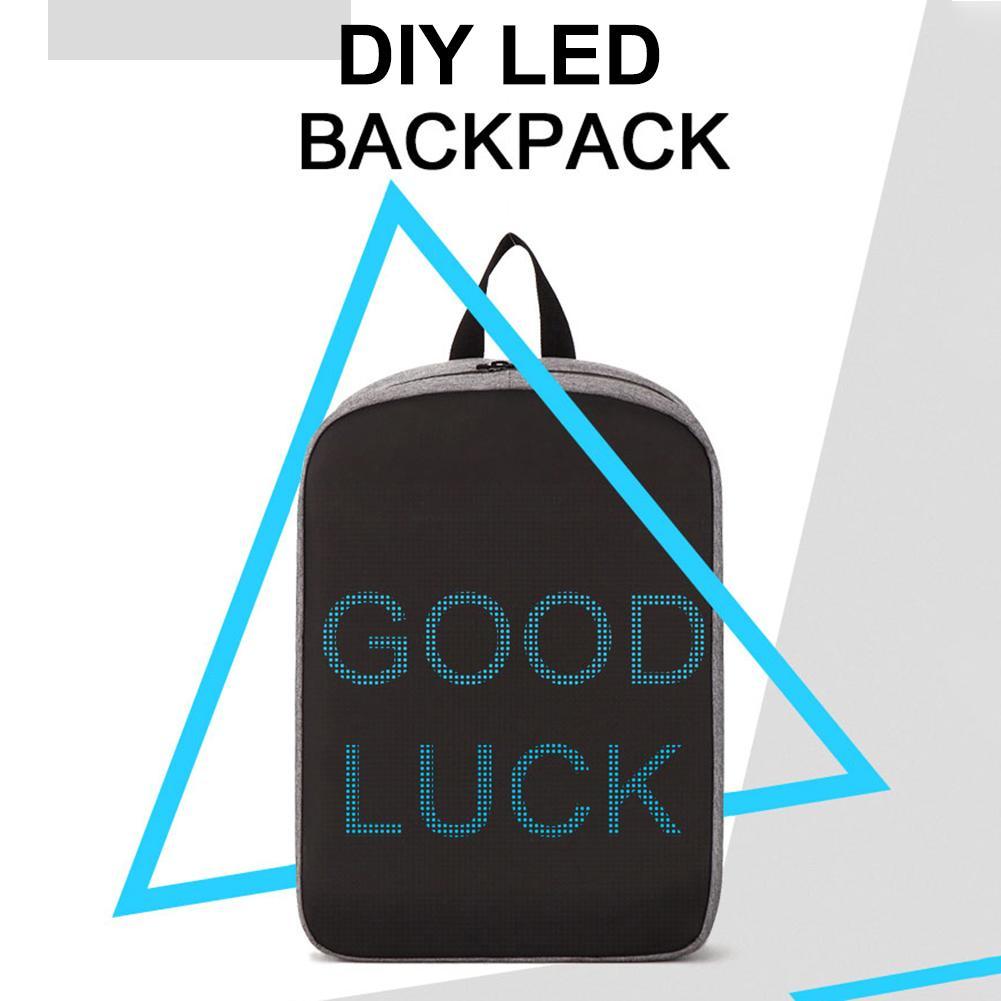 Sac à dos intelligent de LED de Wifi de conception fraîche avec le sac à dos d'écran d'affichage de LED imperméable à l'eau pour la marche LED à dos de publicité extérieure
