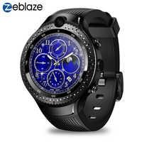 Nuovo Zeblaze Thor 4 Dual 4G Intelligente Orologio MTK6739 Quad Core 1 Gb di Ram 16 Gb di Rom 530 Mah 5MP + 5MP Doppia Fotocamera 1.4 Schermo Amoled Smartwatch Uomini