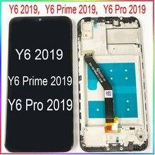 لهواوي Y6 2019 LCD Y6 Prime 2019 شاشة Y6 Pro 2019 عرض مع اللمس مع الإطار الجمعية استبدال إصلاح أجزاء