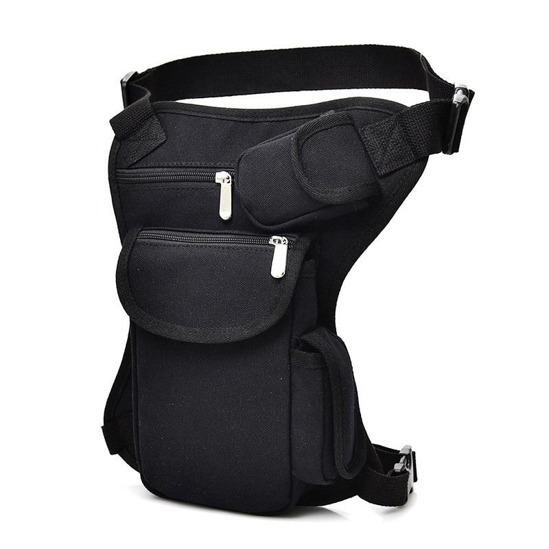 Men's Camouflage Military Belt Bag Fanny Packs Mens Canvas Outdoor Tactical Riding Waist Bag Multi-function Leg Pocket
