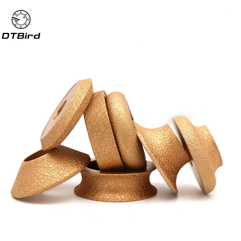1Pcs Brazing Diamond Angle Grinder Stone Slotted Grinding Wheel Straight Edge Round Glass Pottery Porcelain Marble Flat Disc