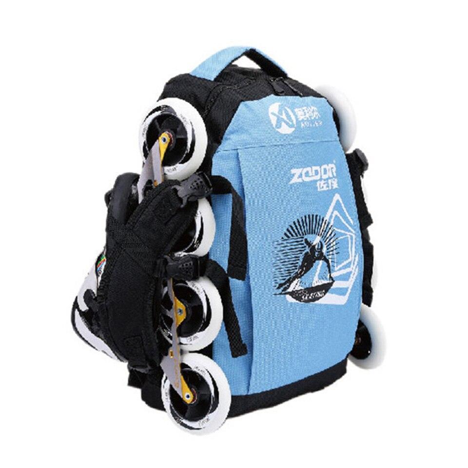 Bolsas para Patins de Velocidade em Linha Adulto e Crianças à Prova Doxford Água Oxford Pano Mochilas Rolo Patins Sapatos Slalom Geral G008