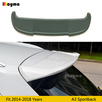 ABT style ABS Roof wing spoiler For AUDI A3 8V Sportback 2014 2015 2016 2017 2018 year Sline S3 car roof spoiler