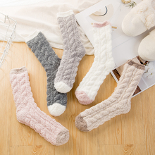 Socks Warm Winter Women's And Padded Models Velvet Coral Moon Adult Autumn Ladies Home