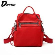 Causal Backpack Women Solid School Bags for Teenager Girls Fashion Nylon Backpacks Female Waterproof Travel Bag Rucksack Mochila недорого