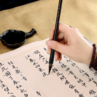 Напрямую от производителя продажа смешанных волос Кисть для письма средняя обычная для письма кисть Langhao деревянная клюшка для взрослых оп...