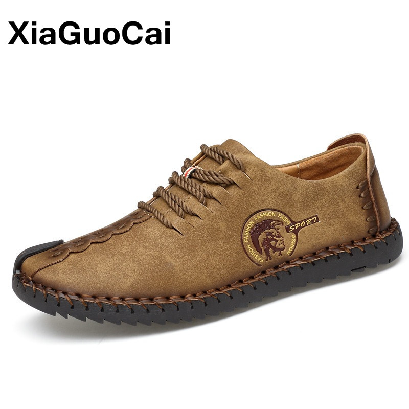 Men's Footwear Spring Autumn Male Casual Shoes Loafers Breathable British Flats Big Size Lace Up Moccasin 2020 Zapatillas Hombre
