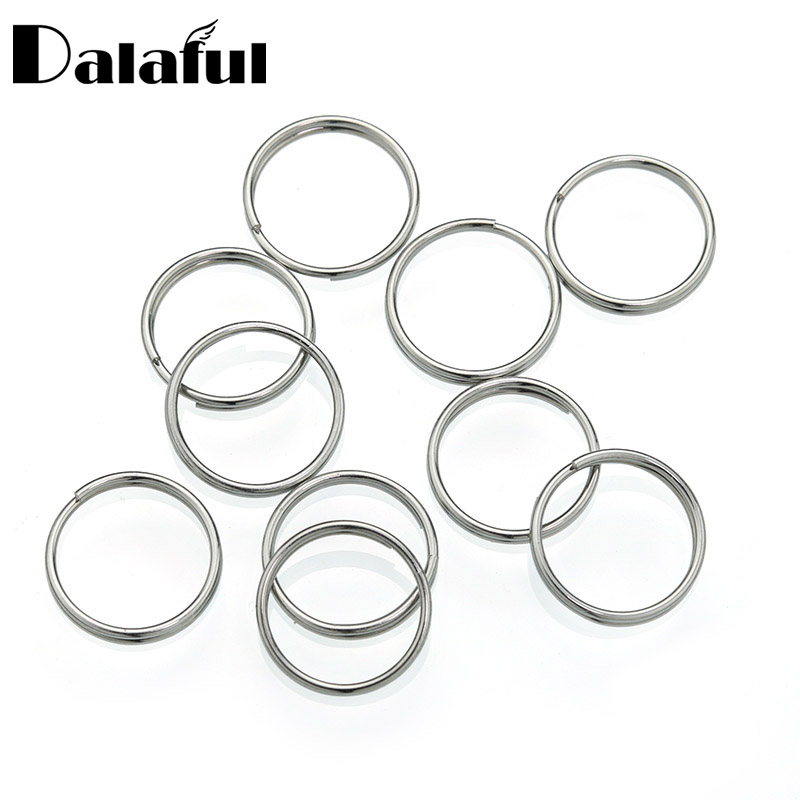 10pcs/bag 12mm Split Key Rings Stainless Steel Keychain Silver Color  for Pet ID Tags Pet Dog Cats Key Fob Accessories P001