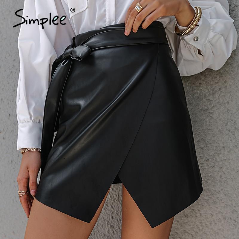 Skirt Simplee Asymmetrical High-Street-Skirts Women Spring Summer Sexy Ladies Female