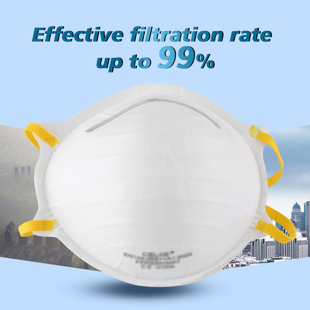 Head-Mounted Protective Mask High Efficiency Filtration Adjustable 3D Fitting Design Light And Breathable 1 Pcs
