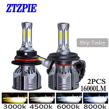 ZTZPIE 72W 3000k 5000K 4500K 6000K 2PCS 16000LM 9005 H1 H8 H4 Turbo Led bulb Car Fog Light H3 H7 H118000K Bulbs Super Bright 12V