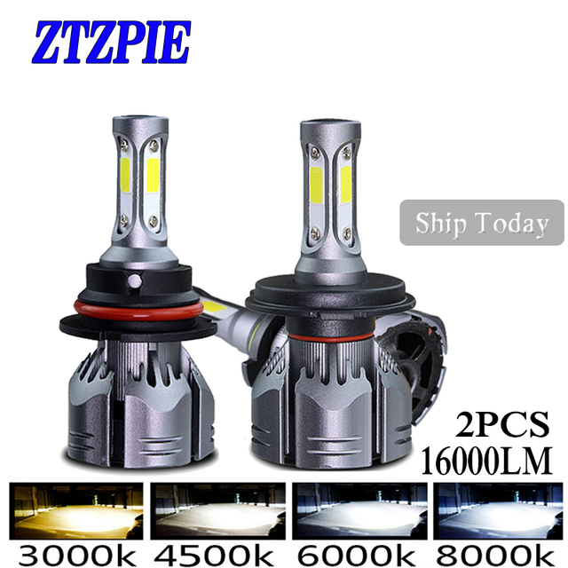 ZTZPIE 72W 3000k 5000K 4500K 6000K 2PCS 16000LM 9005 H1 H8 H4 Turbo Led bulb Car Fog Light H3 H7 H118000K Bulbs Super Bright 12V