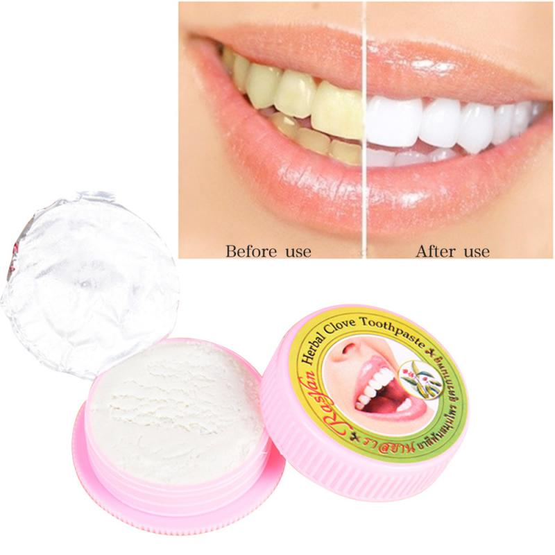 RASYAN 25g Toothpaste Tooth Powder Herbal Natural Herbal Clove Thailand Toothpaste Teeth Whitening Tartar Stain Removal Care