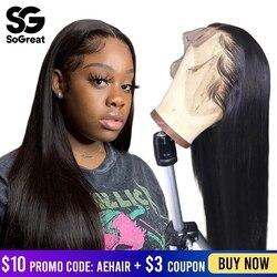 Braziliaanse Straight 28 30 Inch Lange Lace Front Menselijk Haar Pruiken Frontale Afro Korte Bob Pruik Hd Full Preplucked Remy voor Zwarte Vrouwen