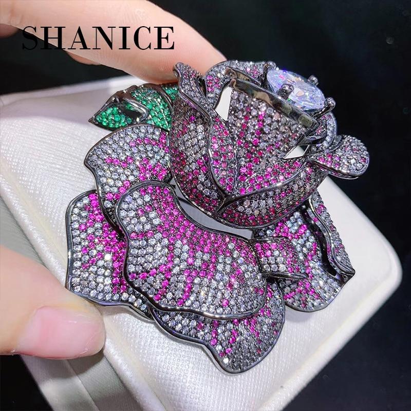 SHANICE bricolage grand pull Rose chaîne gland pendentif avec plusieurs entretoises en Zircon et collier de luxe connecteur pendentifs accessoire