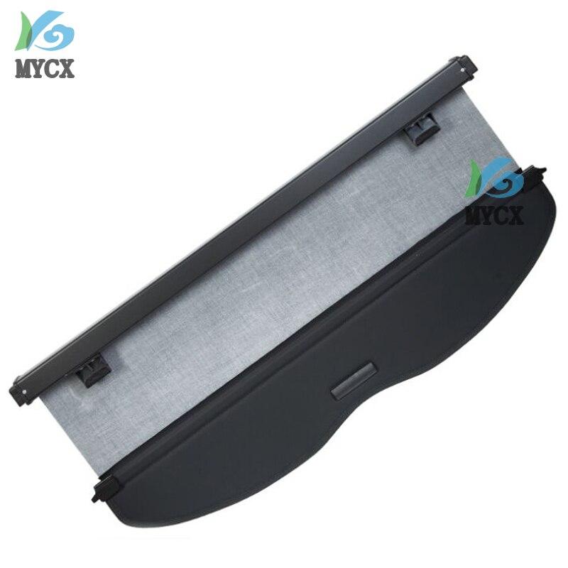 Couverture de cargaison de bouclier de sécurité de coffre arrière d'alliage d'aluminium + tissu pour Nissan Qashqai J11 2014 2015 2016 accessoires de voiture - 5