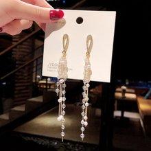 Новые женские серьги в стиле бохо длинные кисточки с кристаллами