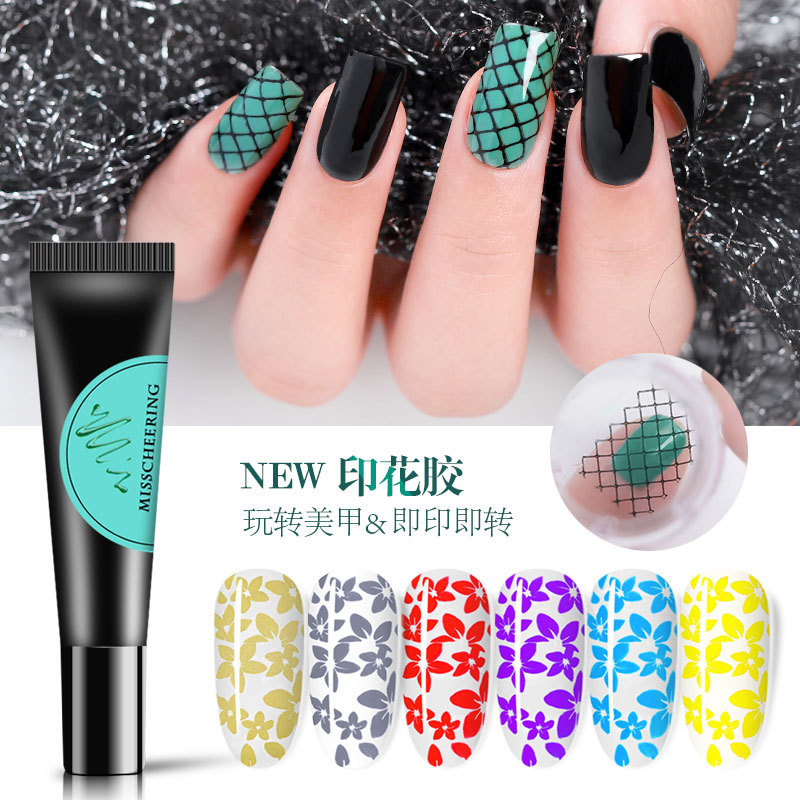 Nail Stamping Gel Polish 8ml Stamp Print Oil UV Gel Varnish Soak Off Varnish For Nail Art Stamping Plate
