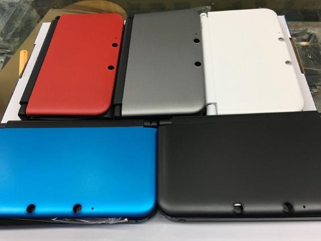 استبدال كامل الإسكان شل الحال بالنسبة نينتندو d 3DS XL/LL وحدة التحكم مع زر مسامير مجموعة أحمر/فضي/أبيض/أزرق/أسود الألوان