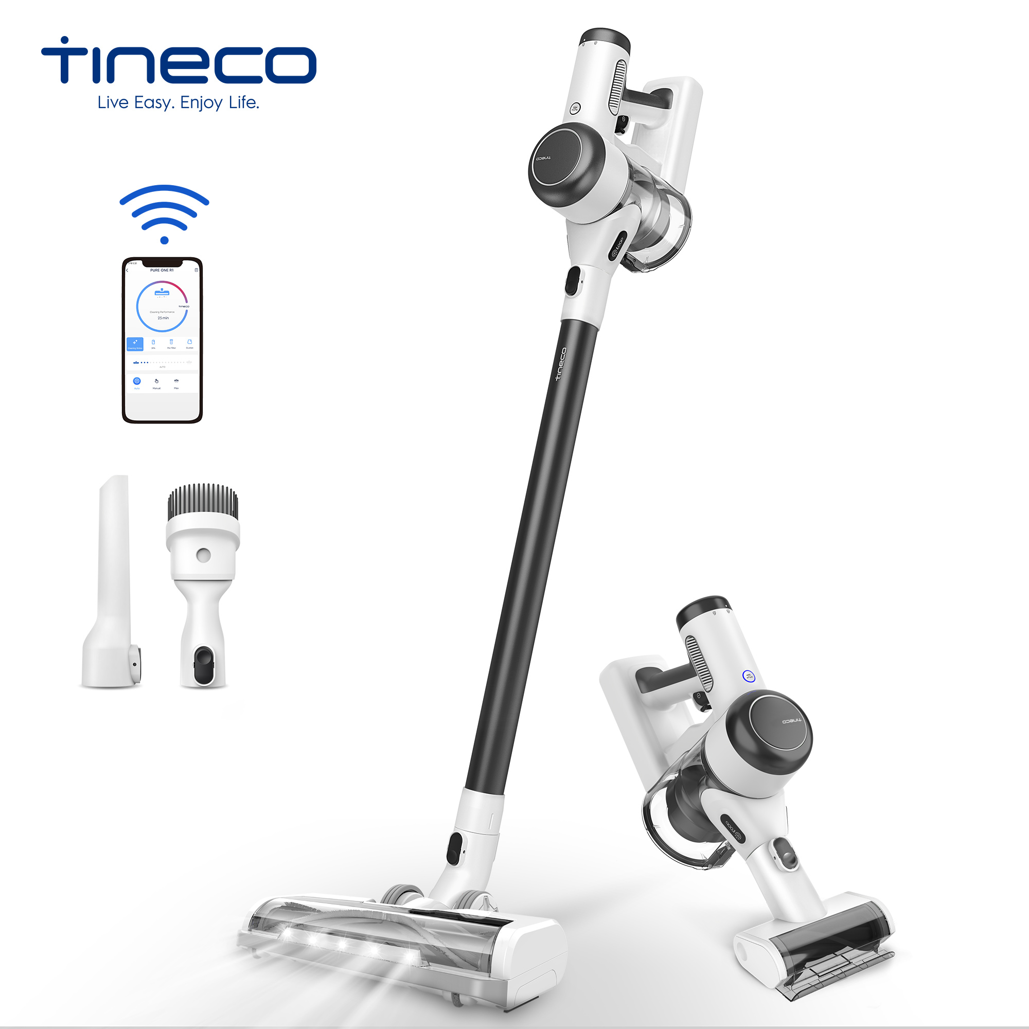 Tineco Pure One X Smart Cordless Vacuum Stick/Handled Auto-Adjust Suction For Home Long Runtime To 70-Minute