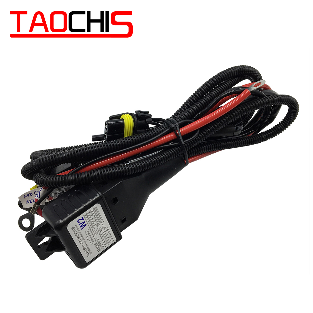 TAOCHIS 12V 35W 55W H4 Wiring Harness Controller Relay Control For HELLA 3R G5 3/5 KOITO Q5 WST AL Projector Lens Cable Wire