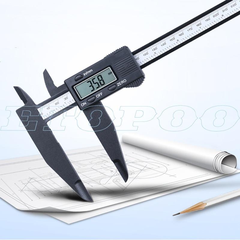 150mm 200mm 300mm 0.1mm Digital Electronic Vernier Caliper Jaw Long Plastic Digital Caliper Micromete DIY Measuring Tools