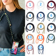 Crossbody Cover for LG Q60 Q6A Alpha Q6 Plus Prime G6 MINI Q7 Q8 2017 Soft Lanyard Necklace Shoulder Neck Strap Rope Phone Case(China)