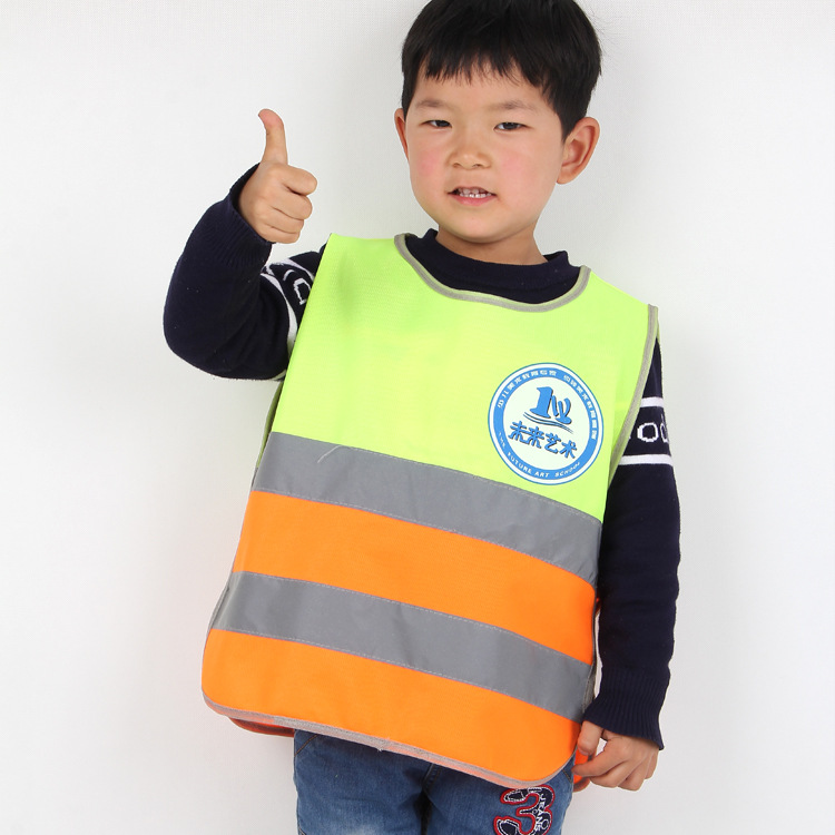 Tandem CHILDREN'S Reflective Vest Waistcoat Children Reflective Clothing School Young STUDENT'S Reflective Vest Traffic Safe Ves