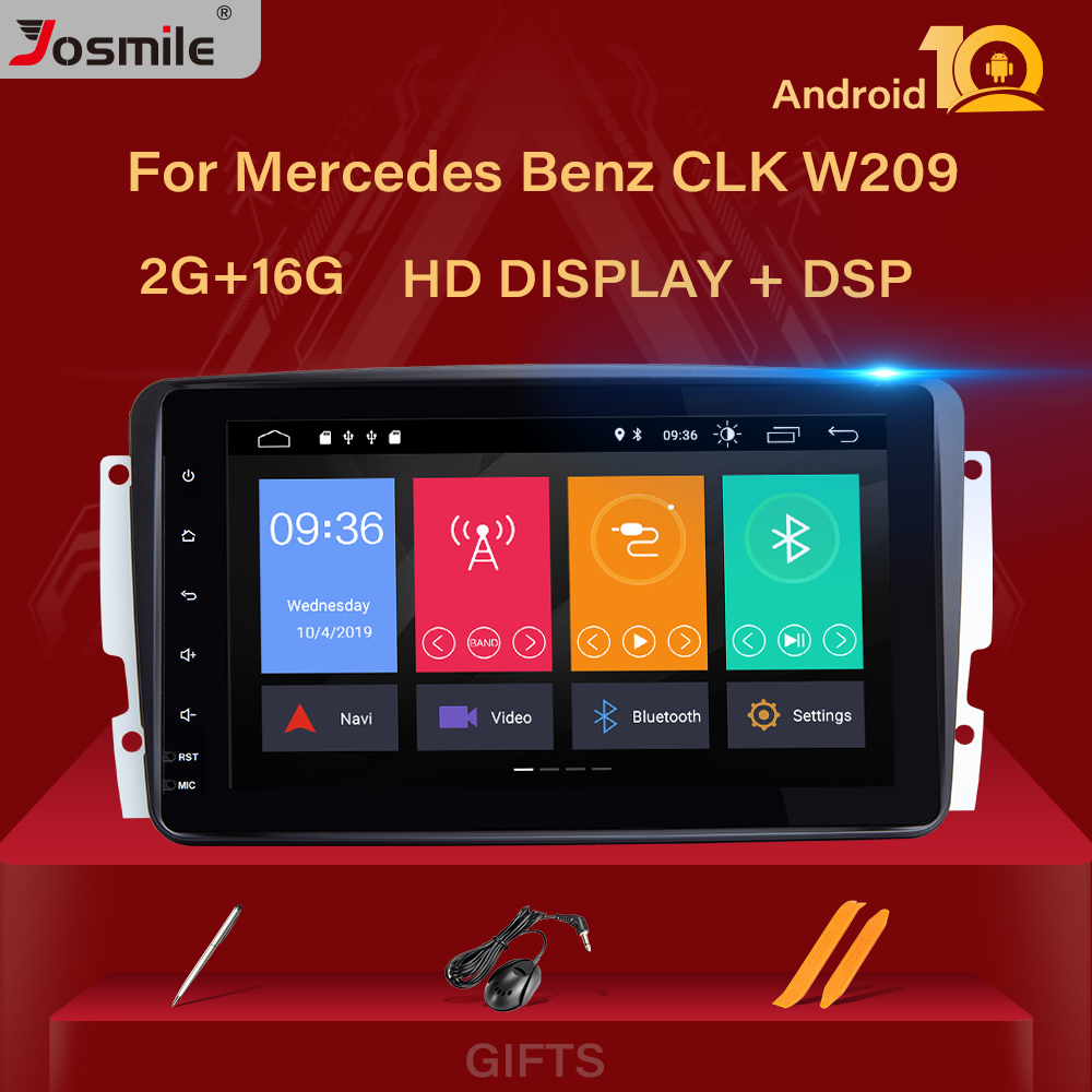 4 Core DSP <font><b>Android</b></font> 10 Car radio Player <font><b>GPS</b></font> For Mercedes Benz CLK W209 W203 W463 W208 multimedia Stereo Navigation Camera BT SWC image
