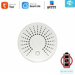 Smart Hidup Mandiri Wifi Sensor Asap dengan Temperature Detector Sensor Sistem Alarm Nirkabel Smoke Detector Ifttt