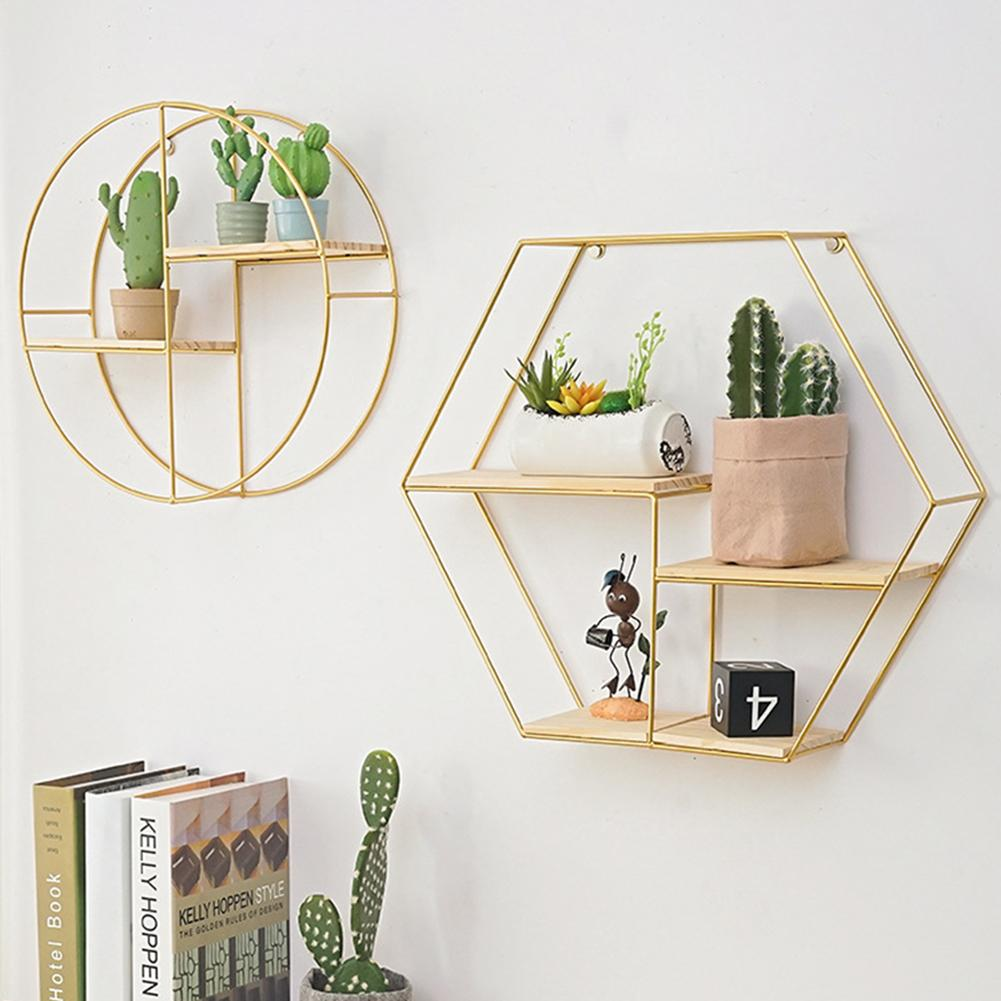 Storage-Rack Display-Shelf Wall-Mount Wooden Nordic-Art Home-Decor Modern-Style Crafts