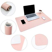 Multifunctional Office Desk Pad, 40*80cm Ultra Thin Waterproof PU Leather Mouse Pad, Dual Use Desk Writing Mat for Office/Home недорого