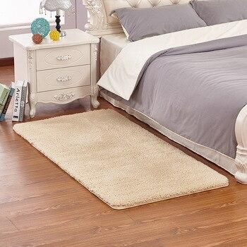 Alfombra Rectangular de lana de cordero Para dormitorio, moderna, Para Sala de...