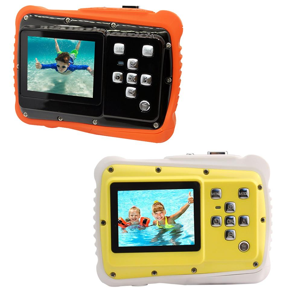WTDC Children's Mini Digital Camera Professional Waterproof Camera 4x Zoom 1080P HD Portable Kids Camera Built-in Mic Speaker